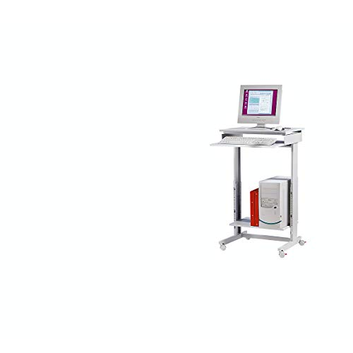 Twinco PC-Arbeitstisch fahrbar lichtgrau H670xB600xT500mm