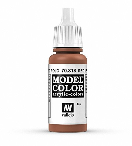 Vallejo, Model Color, Acrylfarbe, 17 ml Rotes Leder von Vallejo