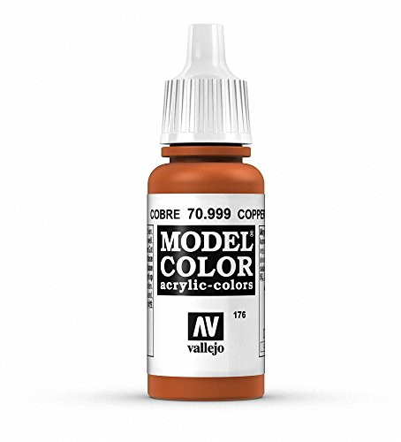 Vallejo, Model Color, Acrylfarbe, 17 ml Kupferfarben (Metallic Copper) von Vallejo