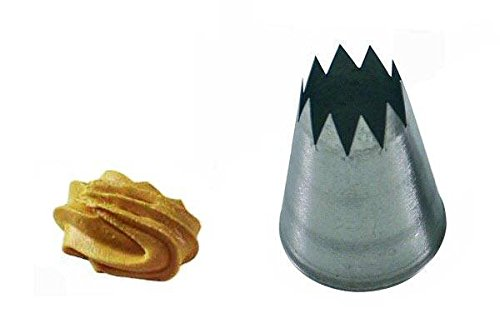 Silikomart 43.391.99.0000 BS114 - STAR STAINLESS STEEL TIPS FOR PIPING BAG ø14 MM von silikomart