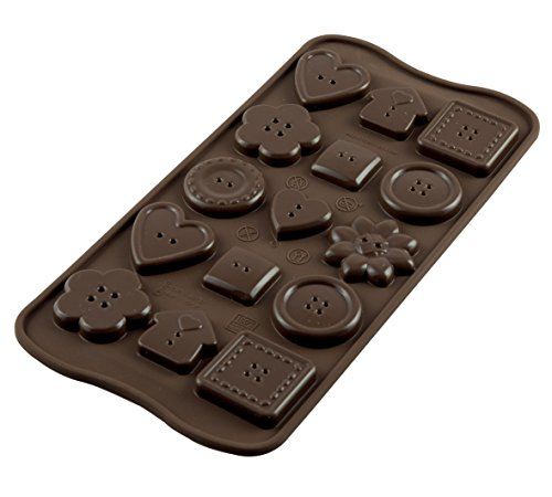 Silikomart 22.129.77.0065 SCG29 CHOCO BOTTON - SILICONE MOULD von Silikomart