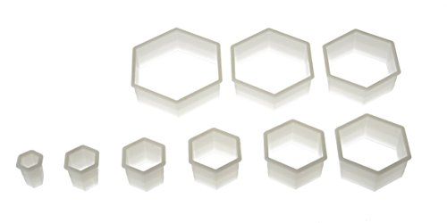 Silikomart 72.306.87.0069 NYLON CUTTER 06 REGULAR HEXAGON - FROM 3X2.5 CM TO 12X10 CM von silikomart