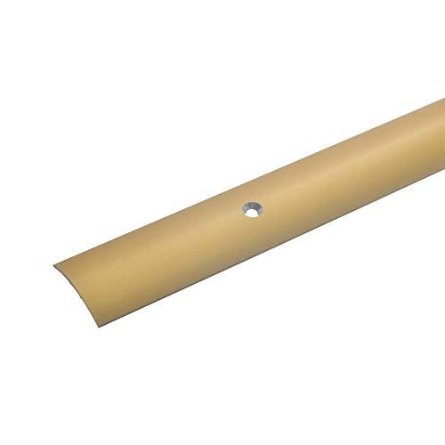 170cm /Übergangsleiste f/ür Teppich-Boden Bodenprofil Schrauben Laminat /& Parkett 7-15mm gold * Rutschhemmend * Kratzfest acerto 34031 /Übergangsprofil Aluminium Alu-/Übergangsschiene 2-teilig