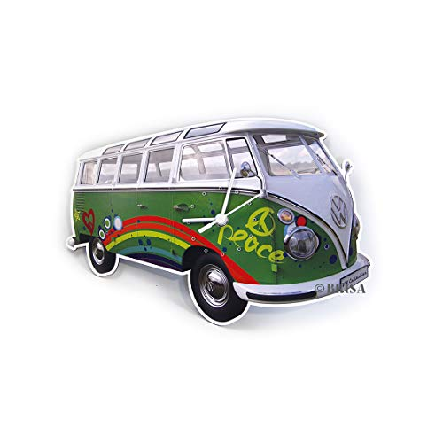 BRISA VW Collection - Retro-Vintage Volkswagen Nostalgie Wand-Uhr im VW T1 Bulli Bus Design von BRISA