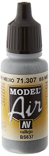 AV Vallejo (Modell Air 17 ml – BS Medium Sea Grey von Vallejo