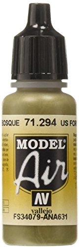 AV Vallejo (Modell Air 17 ml – US Forest grün von Vallejo