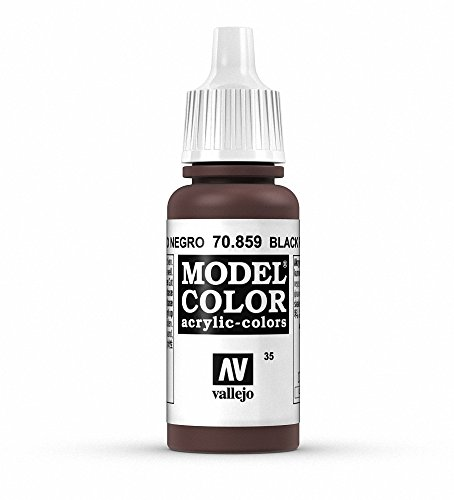 Vallejo, Model Color, Acrylfarbe, 17 ml Schwarz Rot/Cadmium Braun von Vallejo