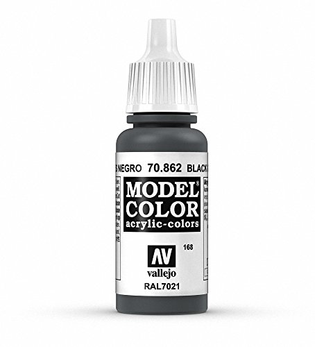 Vallejo, Model Color, Acrylfarbe, 17 ml schwarz grau von Vallejo