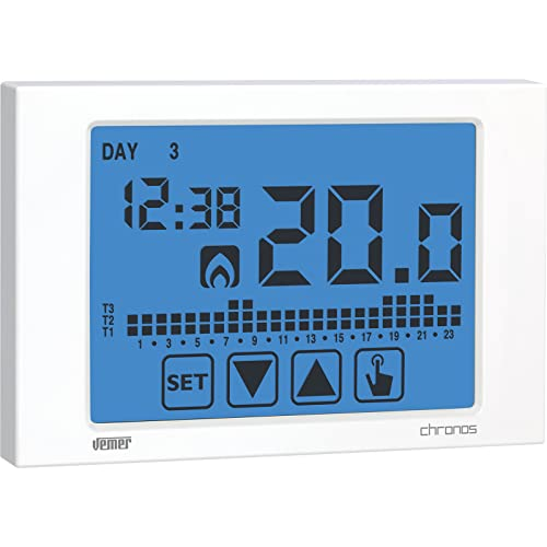 Vemer VE451100 CHRONOS Thermostat Touch Screen Wandleuchte, weiß von Vemer