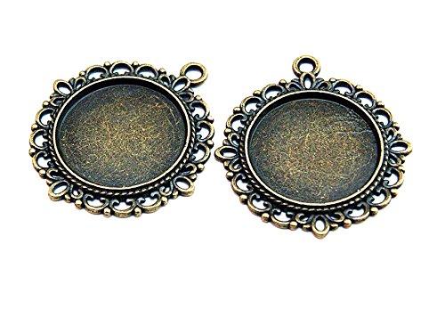DIY-Schmuck 20 Bandklemmen 20 mm in antik Bronze von Vintageparts