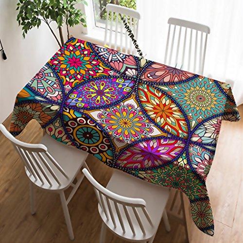Tischdecke Tafeltuch Paisley 170 cm x 420 cm weiß