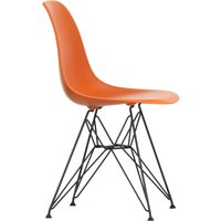 Vitra - Eames Plastic Side Chair DSR, basic dark / rostorange (Filzgleiter basic dark) von Vitra