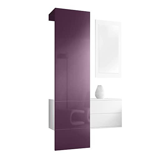 Rot wandgarderoben paneele und weitere garderoben for Garderobe carlton