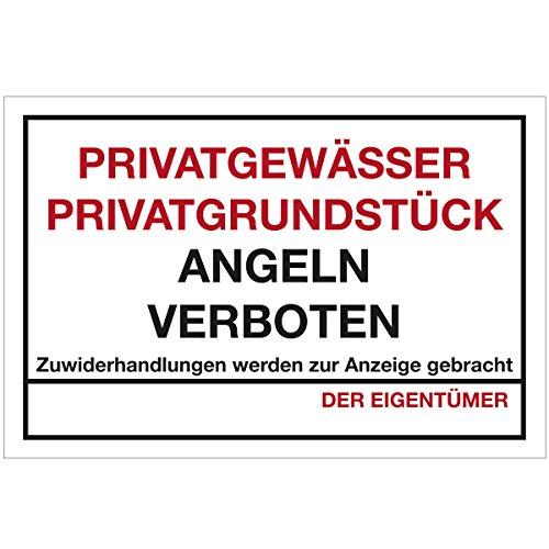 Wandkings Hinweisschild stabile Aluminium Verbundplatte Privatgrundst/ück 20x15 cm W/ähle eine Gr/ö/ße Parken verboten!