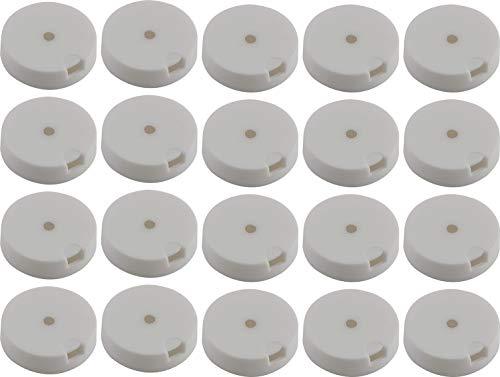 QuickClick Einsatz ULTRASOFT zum Aufdrücken ø 17 mm Kunststoff schwarz20 Stk