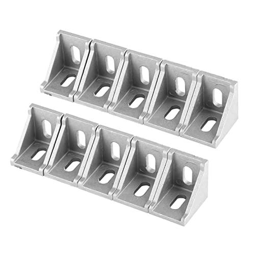 6 St/ück 2020 rechtwinklige Klammerhalterung aus Aluminium Akozon L-f/örmige Eckhalterung