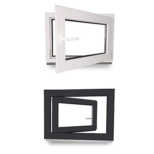 Kellerfenster wei/ß DIN rechts 3-fach-Verglasung Kunststoff Fenster Lagerware BxH: 100 x 55 cm