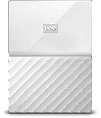 WD My Passport 2TB Portable Hard Drive and Auto Backup Software for PC, Xbox One and PlayStation 4 - White von Western Digital