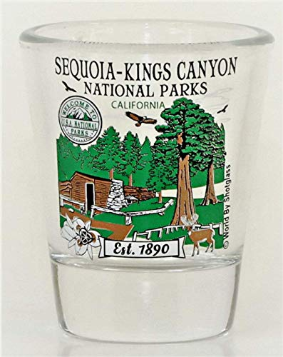 Sequoia-Kings Canyon California National Park Series Schnapsglas von World By Shotglass