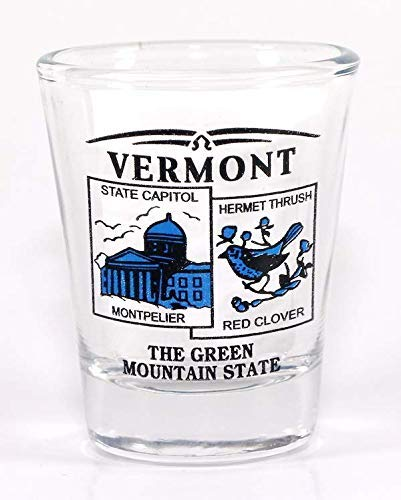 Vermont State Scenery Schnapsglas, Blau von World By Shotglass