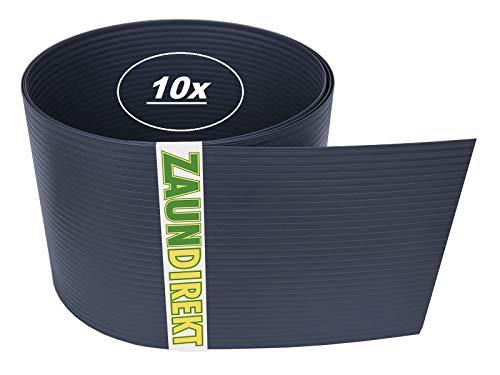 10 x K1 Kunststoff Pfostenkappe I RAL 9005 schwarz I 60x40mm Zaunpfosten I Zaun I Pfosten I K1