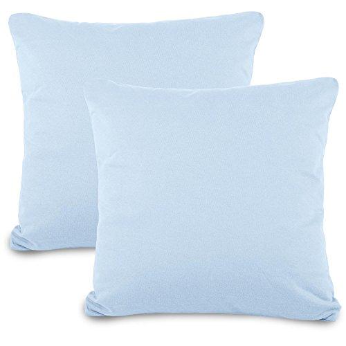aqua-textil Classic Line Spezialkissenbezug Ergo.150 anthrazit Baumwolle Kissenbezug Jersey Kissenh/ülle Rei/ßverschluss