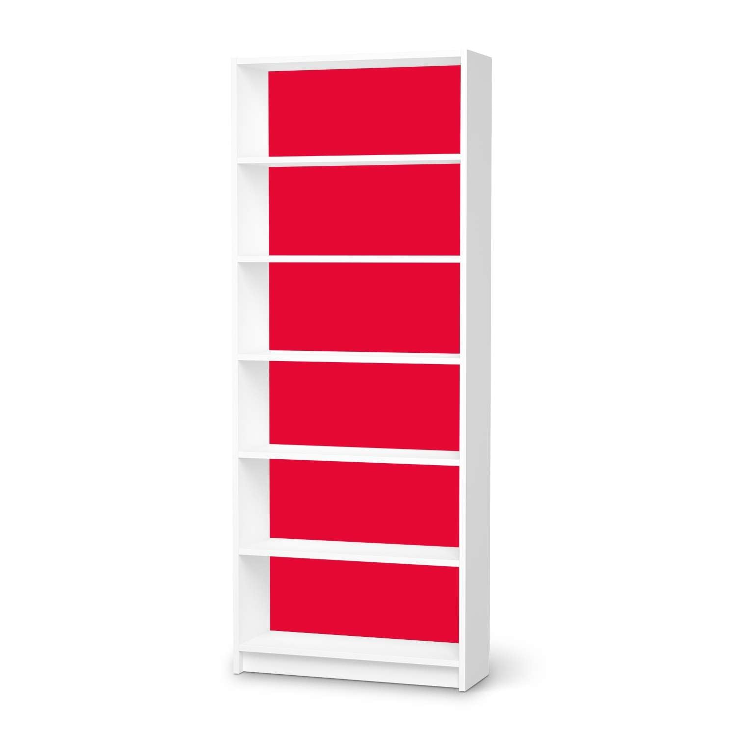 Klebefolie IKEA Billy Regal 6 Fächer - Design: Rot Light von creatisto