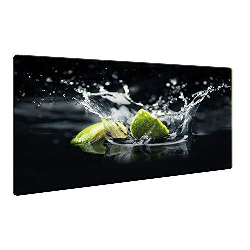 Ceranfeldabdeckung Herdabdeckplatten Spritzschutz Glas Früchte 60x52 cm