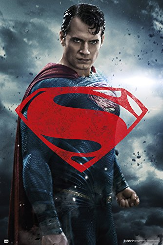 empireposter 732026 Batman vs Superman - Superman Glyph Film Movie Plakat Druck, Papier, Mehrfarbig, 91,5 x 61 x 0,14 cm von empireposter
