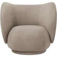 ferm LIVING - Rico Loungesessel - Sand (Brushed) - indoor von ferm LIVING