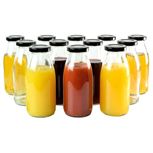 Schnapsflaschen Lik/örflaschen Verschluss to 48 Schwarz gouveo 6er Set Saftflasche 1.000 ml inkl /Ölflaschen Essigflaschen