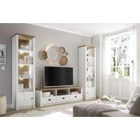 Home affaire Wohnwand Beauvais, (Set, 3 tlg.), im Landhausstil von home affaire