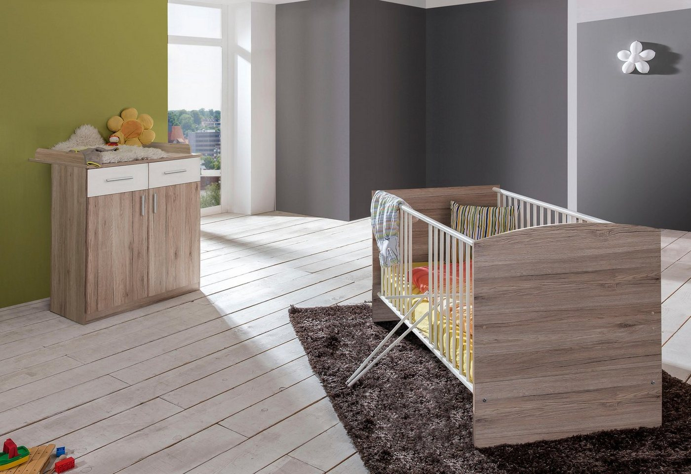 Babymöbel-Set »York«, (2 tlg) Bett + Wickelkommode