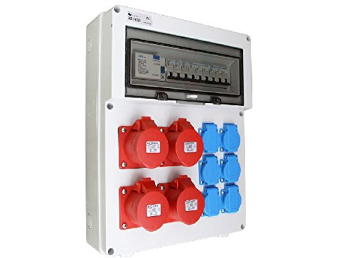 Wandverteiler FI 1x16A 1x32A 4x 230V Baustromverteiler Stromverteiler AWVT8