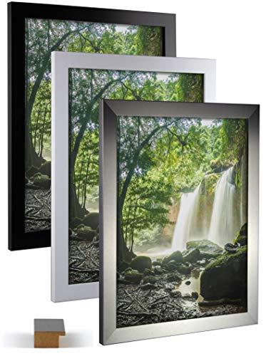 Bilderrahmen Oder Massivholz mit Farbwahl 90 x 40 cm Wechselrahmen mit Kunstglas
