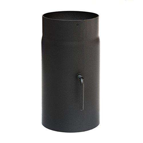 1000mm mit Zugregulierung schwarz raik SH036-150-sw Rauchrohr Ofenrohr 150mm