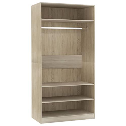 Kleiderschrank offen Einlegeboden Regal Garderobe Dielenschrank 100×50×200 cm